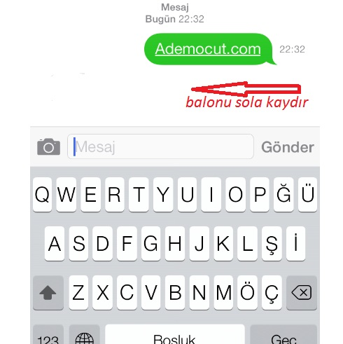 iphone mesaj zamanı