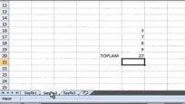 Excel de farklı sayfadaki verileri toplama
