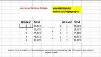 Excel Düşeyara Formülü