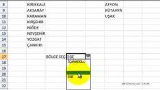 Excel'de Seçmeli Hücre ( Veri ) Oluşturma