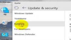 Windows 10 Fabrika Ayarı ( Sıfırlama ) Nasıl Yapılır