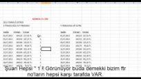 Excel ile Cari hesap kontrolü nasıl yapılır