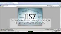 Web server ( IIS ) nasıl kurulur