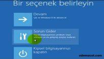 Windows 8 güvenlik modu nasıl açılır