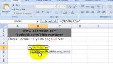 Excel Çevir ( Convert ) formülü nasıl kullanılır