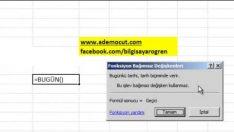 Excel Formulleri Bugun Formulu Nasıl Kullanılır