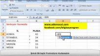 Microsoft Excel Birleştir Formülü Nasıl Kullanılır