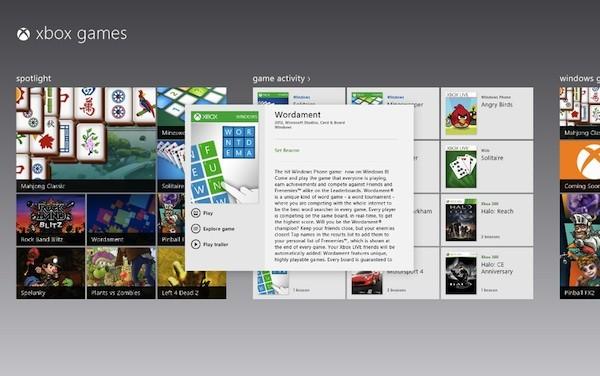 Microsoft Windows 8 Xbox Güncellemesi