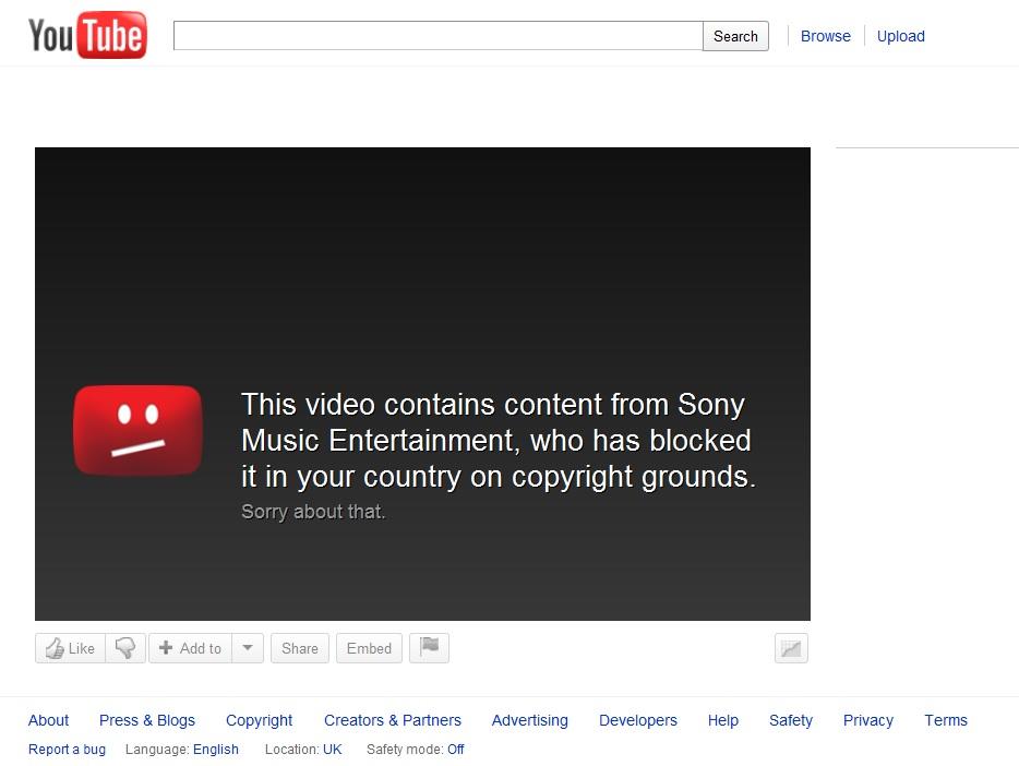 Youtube video izleme hatası