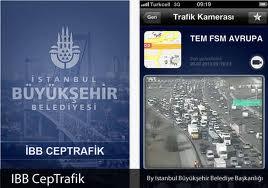 İphone için İstanbul Trafiği Uygulaması