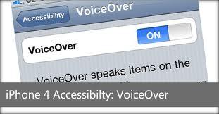 İpad / İphone ; VoiceOver ile Seçilen Öğeyi Seslendir