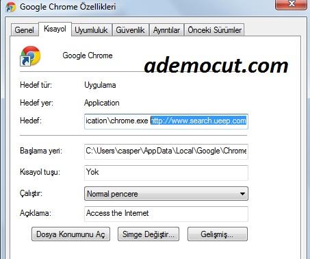 search ueep com sayfasını kaldırma