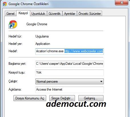 webcrawler sayfasını kaldırma