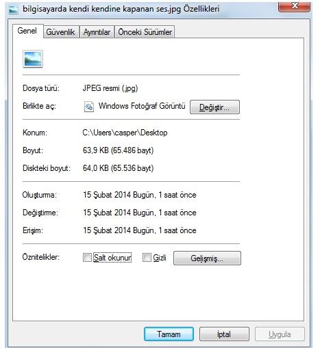 dosya klasör erişim kısa yolu