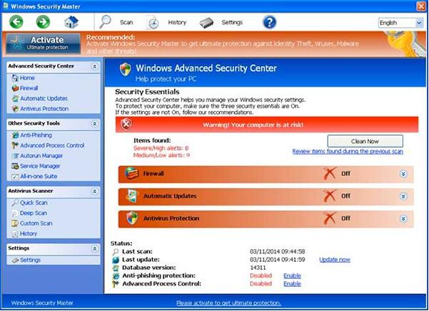 [Çözüldü] Windows Security Master Virüsü Nasıl Silinir