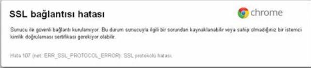 [Çözüldü]  SSL bağlantısı hatası –  Err_SSL_Protocol_Error Hata Çözümleri