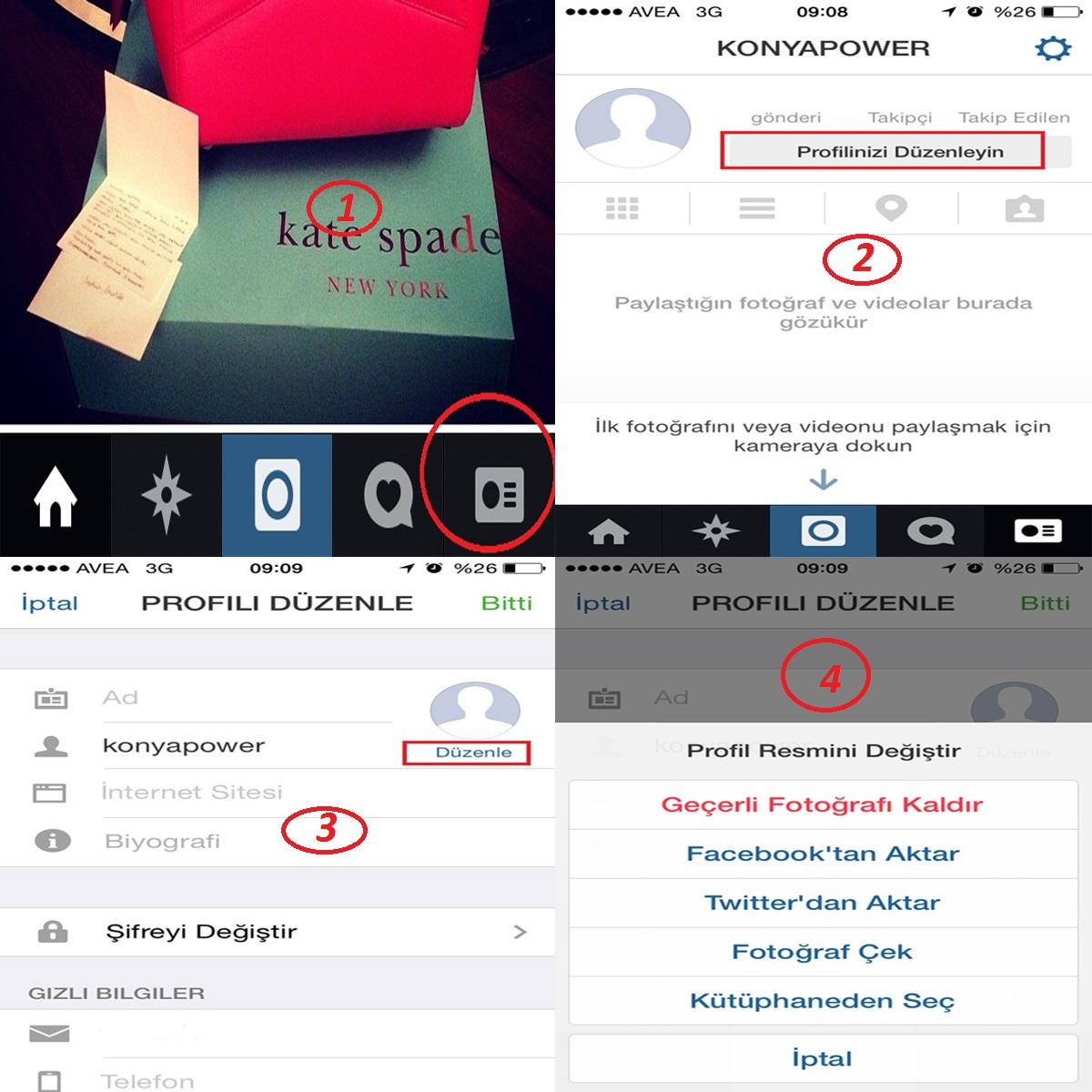 instagram profil resmi değiştirme
