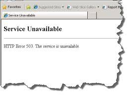 503 Service unavailable  hatası nasıl çözülür?