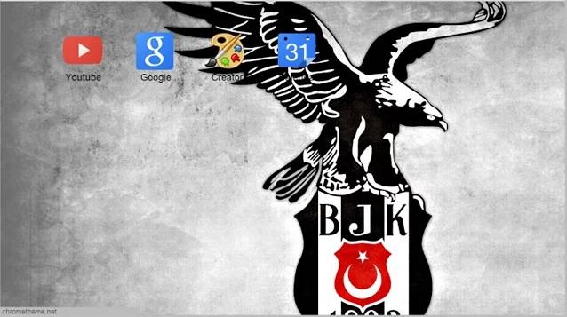 Google Chrome için Ücretsiz Beşiktaş Teması