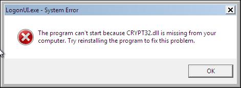 crypt32 .dll dosyası
