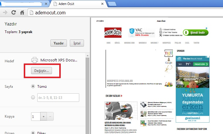 web sitesini pdf olarak kayıt etme