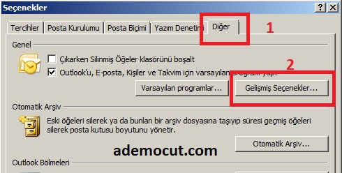 Outlook Takvim Yazı Font Değiştirme1