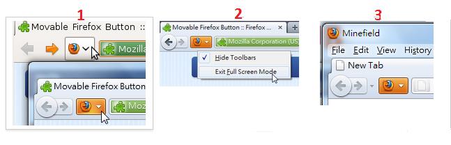 firefox-mozilla-Düğme yerine değiştirme
