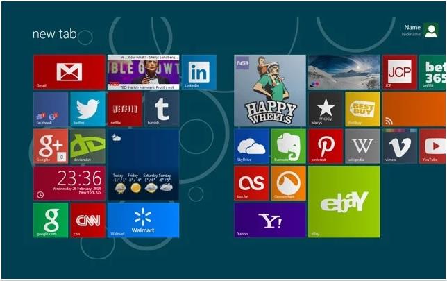 Google Chrome : Windows 8 Metro Arayüz Eklentisi