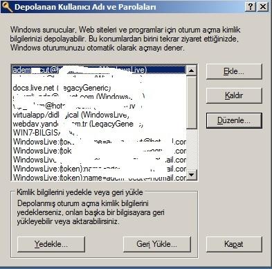 Depolanan Kullanıcı Adı ve Parolaları1 logo