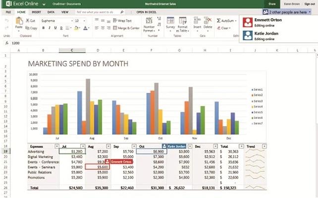 Google Chrome  Excel Online Eklentisi