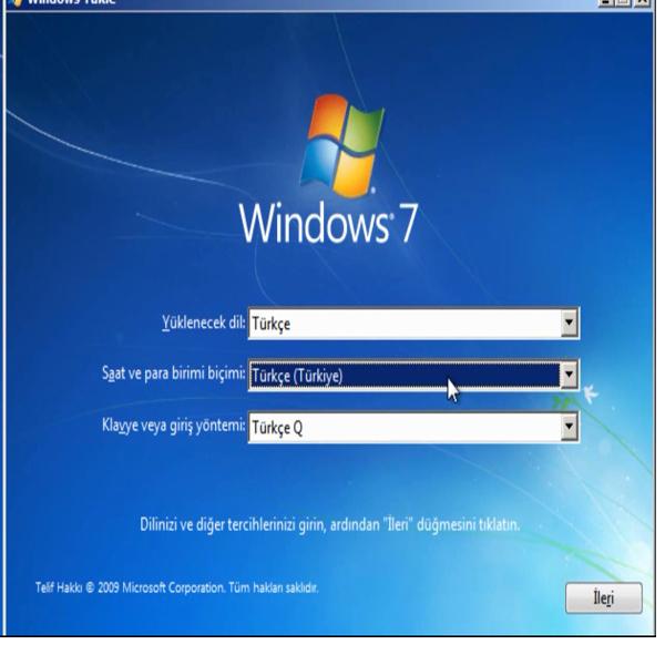 Bilgisayara windows 7 cd ile format atma youtube.