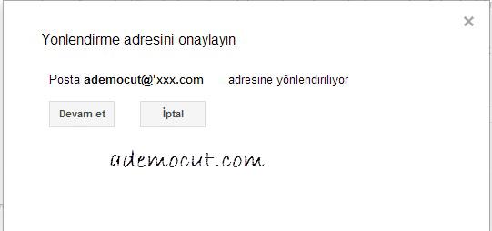 gmail yönlendirme