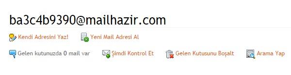 hazirmail - anlık mail - geçici mail