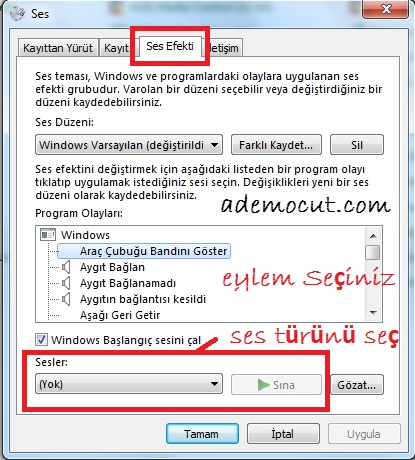 Windows Ses Efekti