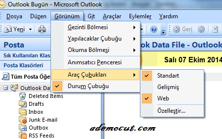 outlook mesaj gönderimi