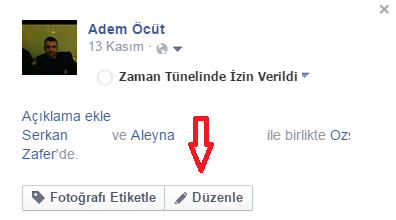 Facebook Etiketleme Kaldırma