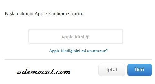 apple parola sıfırlama