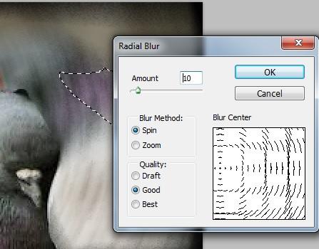 photoshop blur-radial blur