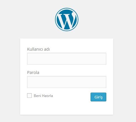 wordpres giriş sayfası