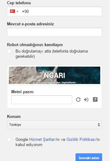 gmail hesap oluşturma4