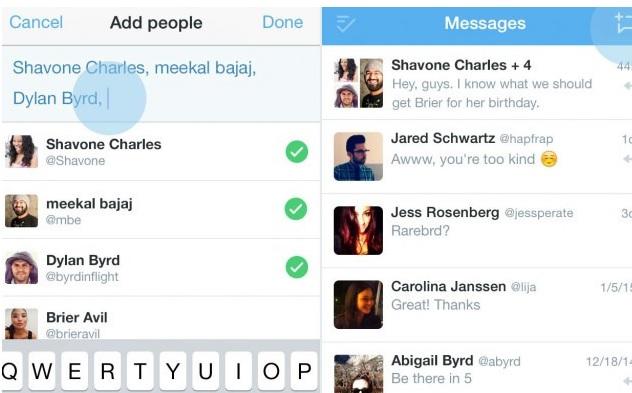 twitter grup sohbet özelliği