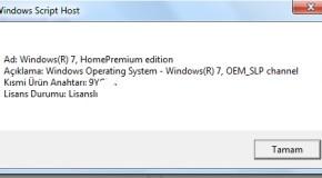 Windows İşletim Sistemi Lisans Sorgulama Nasıl Yapılır