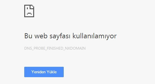 { Çözüm } dns_probe_finished_internet Hatası