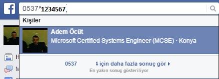 facebook arama - search