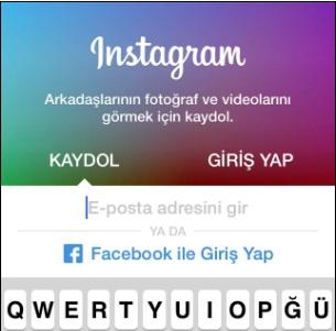 instagram hesap oluşturma