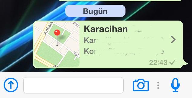 whatsapp yerini bulma