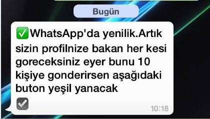 whatsapp yenilik mesaj virüsü