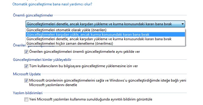 windows update nasıl yapılır