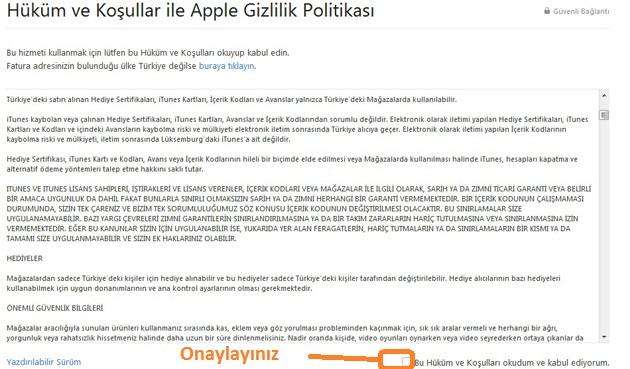 apple gizlilik sözleşmesi
