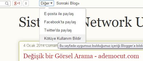 blogspot içerik şikayet etme